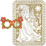 """Раскраски В НАБОРЕ A-5, """"ЗОЛОТЫЕ"""", 1 картонная-раскраска, фон-золотой глиттер + МАСКА-ОЧКИ + 6фломастеров, фото 7"""