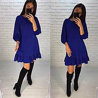 Женское красивое платье с воланом по низу