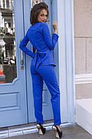 Костюм 01475  Размеры: 42-44,44-46 Ткань-костюмка Цвета- синий, сиреневый, черный, красный,