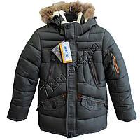 Куртка детская для мальчиков 40-48 р.р. темно-зеленая Китай Оптом KK 702