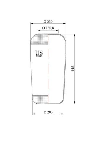 Пневморессора MAN 21885-US / 551885 / W010950429 / 084.097-70A / 41885 / 31885 / AUG34884