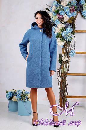 Женское осеннее пальто до колена больших размеров (р. 44-62) арт. 981 Тон 45, фото 2