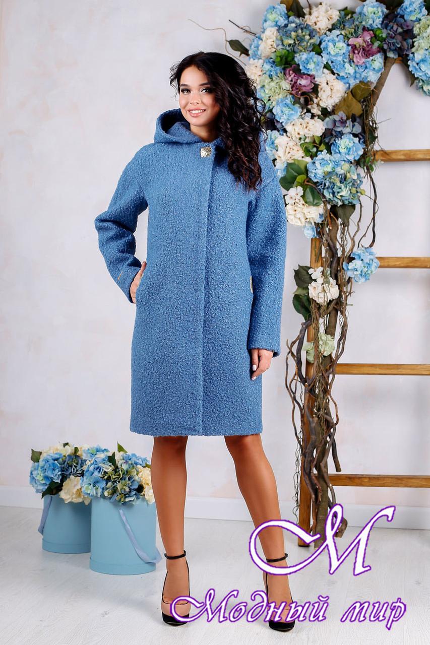 Женское осеннее пальто до колена больших размеров (р. 44-62) арт. 981 Тон 45
