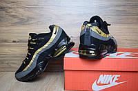 Кроссовки air max 95 мужские черные+золото