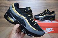 Кроссовки air max 95 подростковые черные+золото