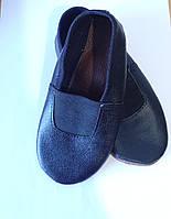Чешки кожаные детские черные разм. 15 -19,5 см