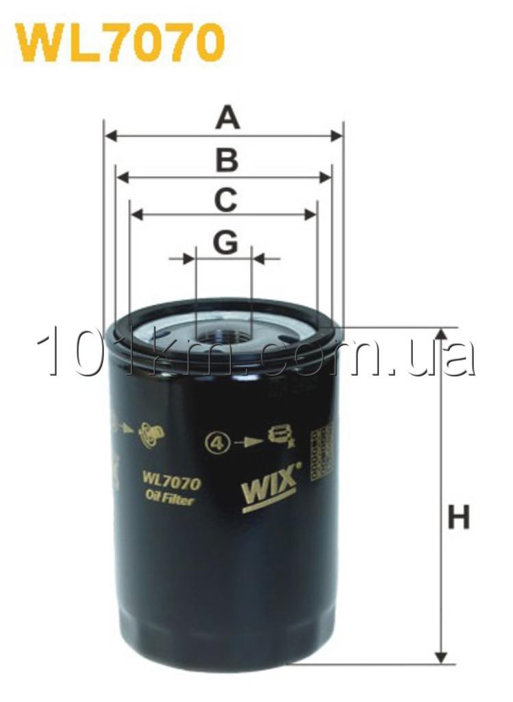 Фильтр масляный WIX WL7070 (OP 526)
