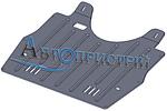 Защита двигателя и КПП Renault Laguna 2 (2001-2007) механика 2.0 i, 1.9 D