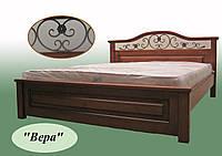 Кровать из натурального дерева полуторная Вера