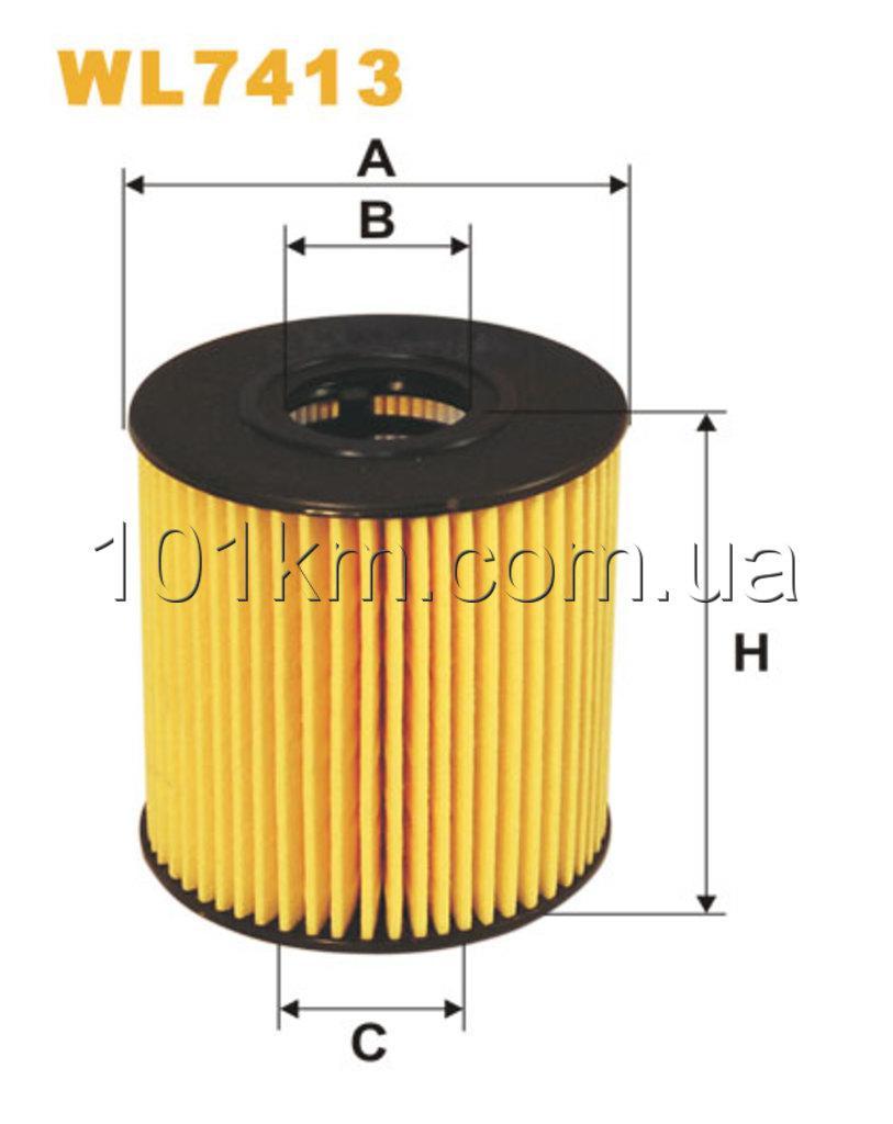 Фильтр масляный WIX WL7413 (OE 673)