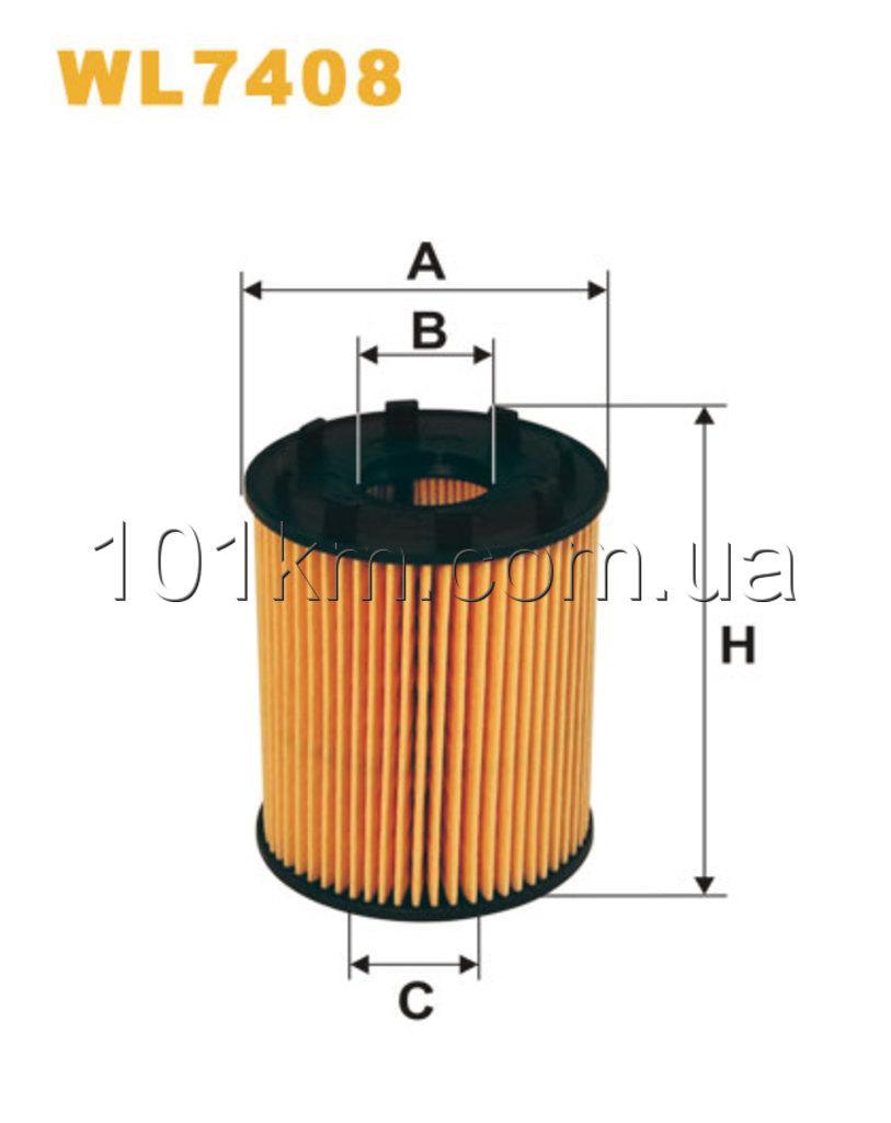 Фильтр масляный WIX WL7408 (OE 670)