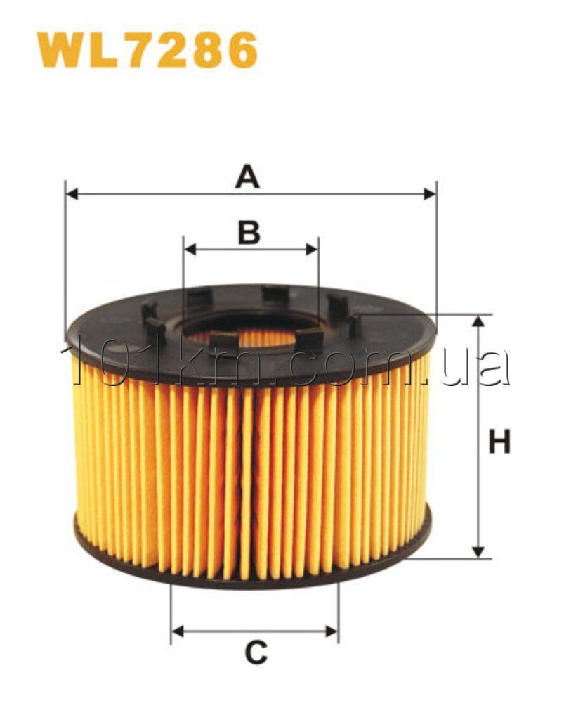 Фильтр масляный WIX WL7286 (OE 665/1)