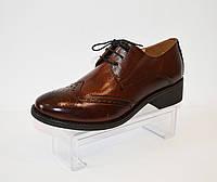 Туфли женские коричневые Lan-kars 454