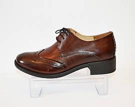 Туфли женские коричневые Lan-kars 454, фото 2