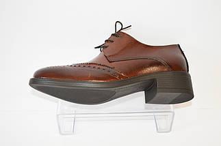 Туфли женские коричневые Lan-kars 454, фото 3