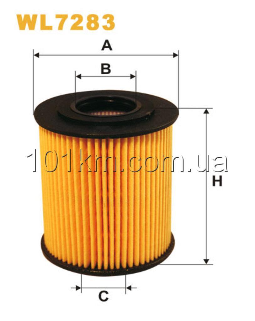 Фильтр масляный WIX WL7283 (OE 649/5)