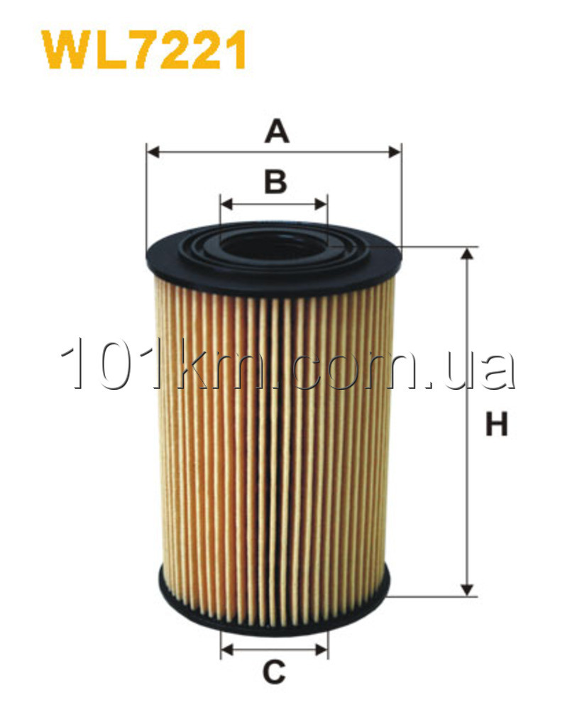 Фильтр масляный WIX WL7221 (OE 649/4)