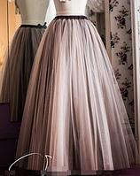 Длинная юбка из фатина -  Кофе
