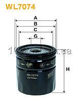 Фильтр масляный WIX WL7074 (OP 629)