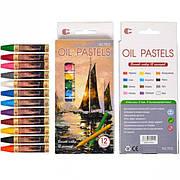 Восковые карандаши 12 цветов OIL PASTELS «С» Т1512