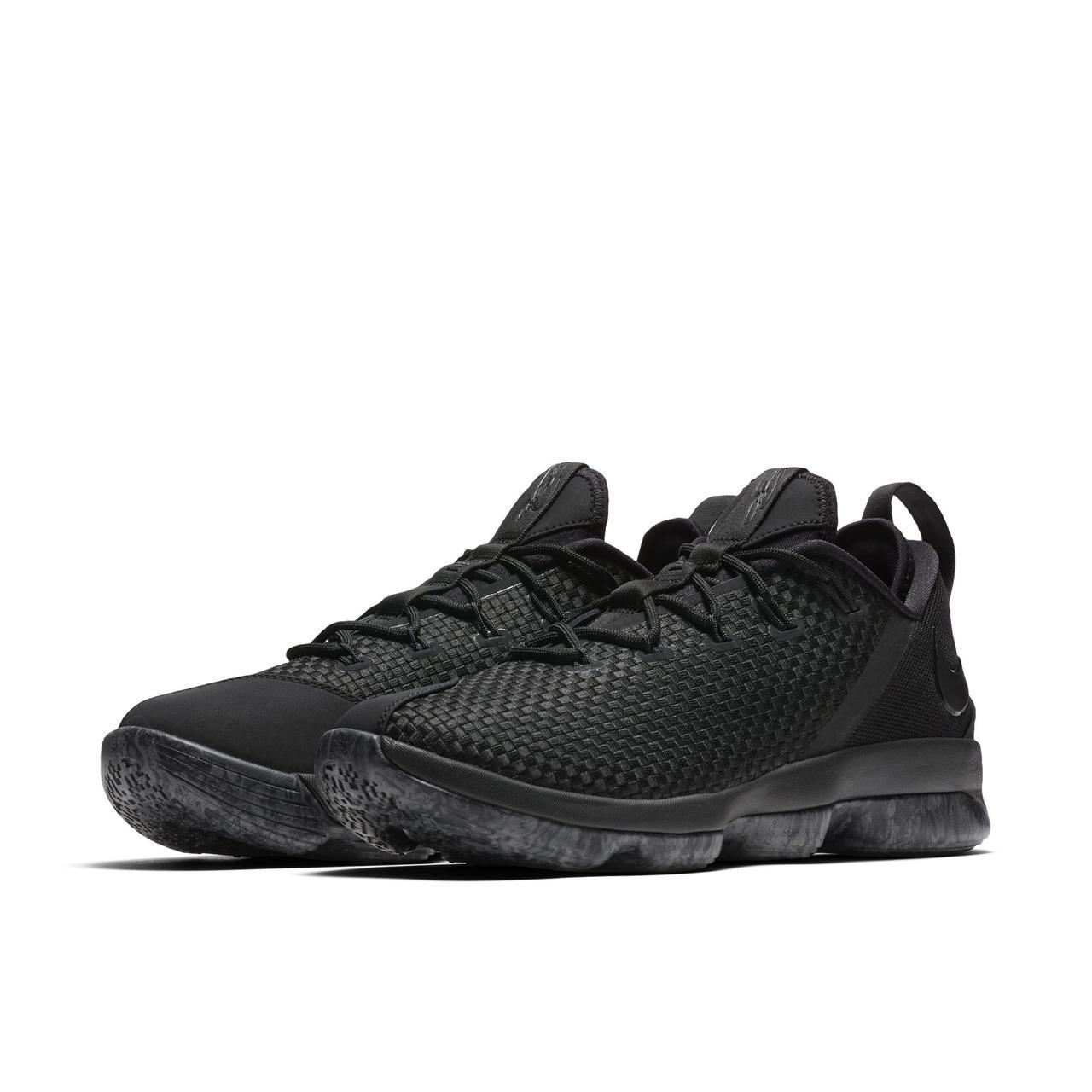 0594546c0966 Кроссовки баскетбольные Nike Lebron 14 Low Triple Black 878635