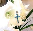 Серебряный крестик с Лондон топазом, фото 5