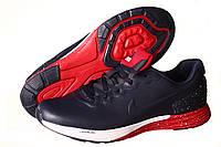 Кроссовки мужские Nike Lunarlon Flyknit Max синие с красным (найк), фото 1