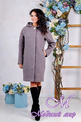 Осеннее пальто больших размеров (р. 44-62) арт. 981 Тон 40, фото 2
