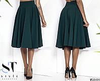 Шикарная юбка-солнце миди длины с завышенной посадкой.