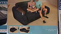 Надувной раскладной велюровый диван-кровать 68566 Intex (193см x 221см x 66см)