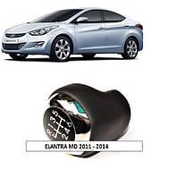 Кулиса (кожа + лак + хром) для Hyundai 2011 2012 2013 2014 ELANTRA