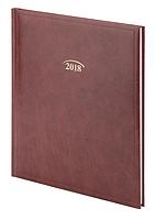 Еженедельник датированный А-4 2018 BRUNNEN Бюро Soft бордовый, 73-761 36 29