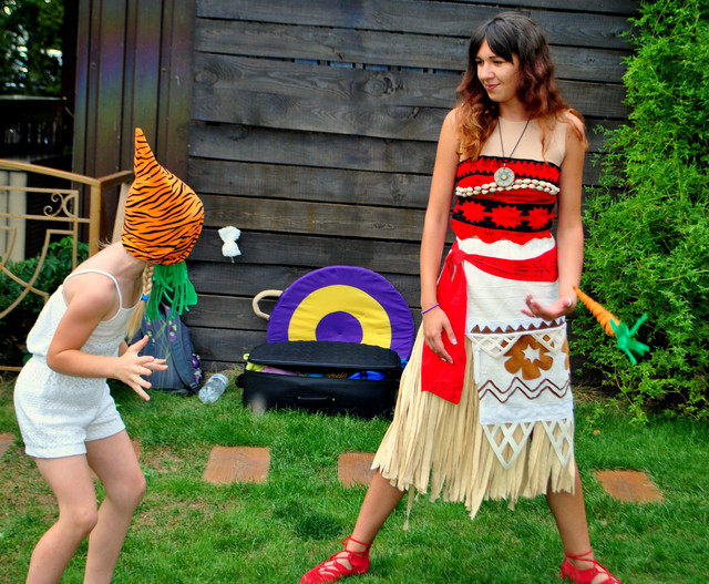 Аниматор моана киев день рождения ребенка ваяна детский праздник,гавайская тематическая вечеринка