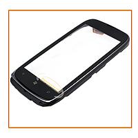 Сенсор (тачскрин) Nokia Lumia 610 с рамкой Silver Original