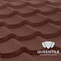 Композитная черепица QueenTile Standard Brown 6-тайловый , фото 1
