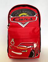 Рюкзак дошкольный для мальчика Тачки красный