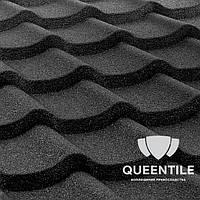 Композитная черепица QueenTile Standard Black 6-тайловый , фото 1