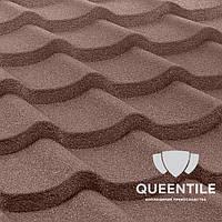 Композитная черепица QueenTile Standard Coffee 3-тайловый , фото 1