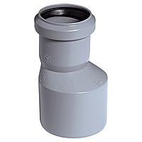 Редукція 50/40 ПП Інсталпласт з розтрубом і ущільнювальним кільцем для внутрішньої каналізації, сірий