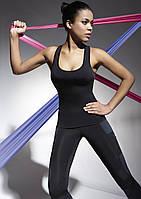 Майка женская для фитнеса с серыми вставками Teamtop 70 TM Bas Bleu (Польша)