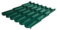 Металлочерепица Rauni RAL 6005 (зелёная) PE 0,45 Premium