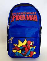 Рюкзак дошкольный для мальчика Человек Паук Спайдер Мэн синий