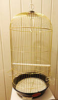 Клетка большая для птиц круглая золото H-67cм Ф-35см