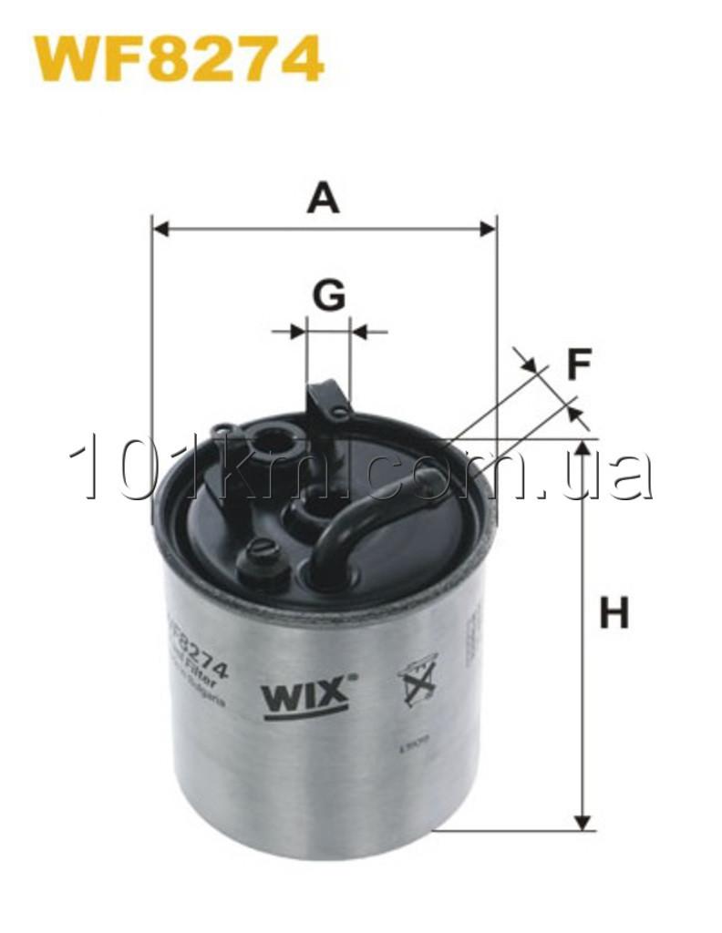 Фильтр топливный WIX WF8274 (PP841/3)