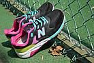 """Женские кроссовки New Balance 580 """"Black/Pink/Green"""" (в стиле Нью Баланс 580) черные, фото 2"""