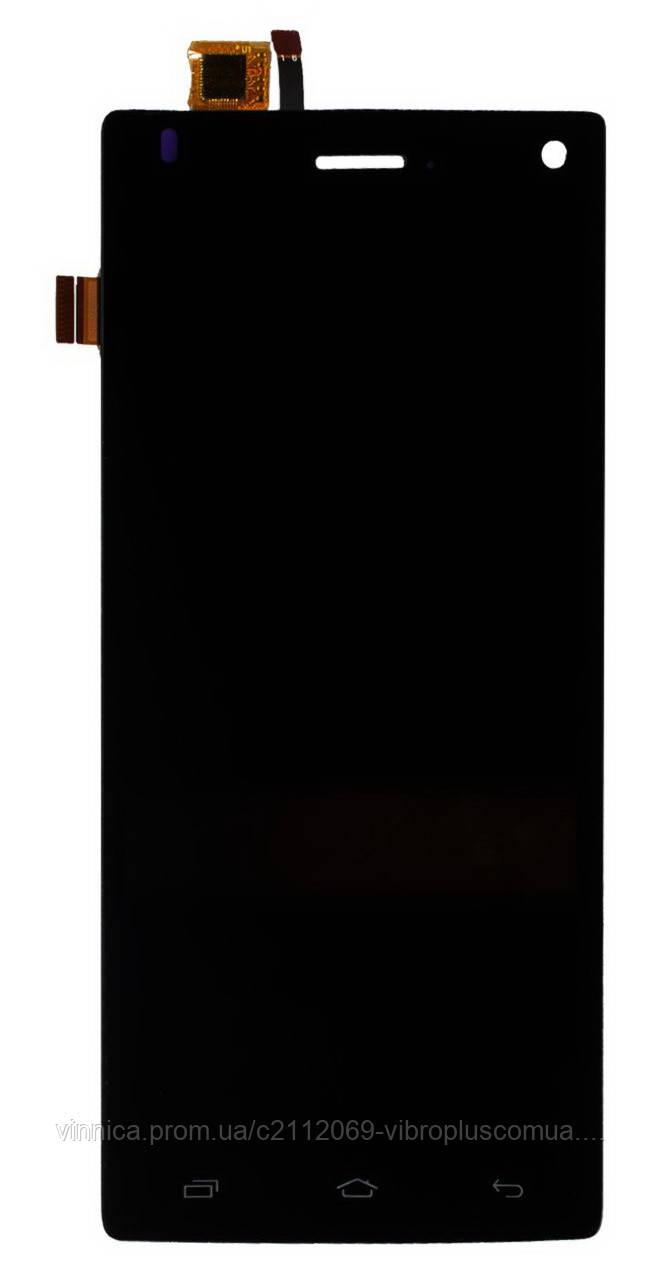Дисплей (экран) Fly FS452 Nimbus 2 with touch screen (с тачскрином в сборе), black (черный)