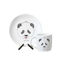 """Детская тарелка и чашка """"Панда"""""""