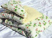 Одеяло комбинированное ткань хлопок с мехом, широкий выбор расцветок, фото 1