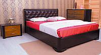 Кровать двуспальная Милена с мягким изголовьем ромбы