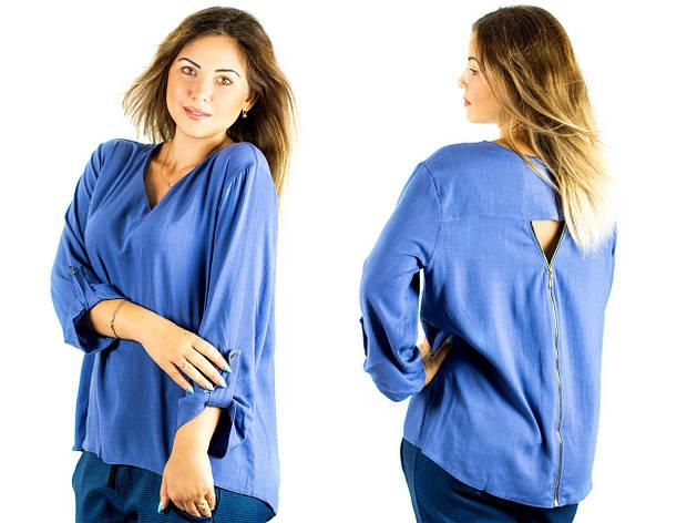 """Джинсовая блуза """"Кайман"""", батал, фото 2"""